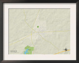 Political Map of Morton, MS Art