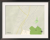 Political Map of Wesson, MS Prints