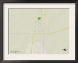Political Map of North Tunica, MS Art