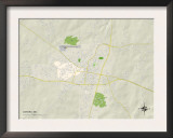 Political Map of Oxford, MS Prints