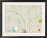 Political Map of Saginaw, TX Poster