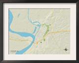 Political Map of Vicksburg, MS Art