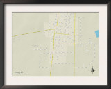 Political Map of Tunica, MS Poster