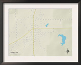 Political Map of Sumrall, MS Prints