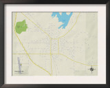 Political Map of Wiggins, MS Art