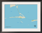 Political Map of Dauphin Island, AL Posters
