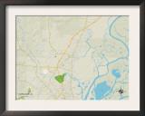 Political Map of Saraland, AL Prints