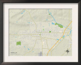 Political Map of Searcy, AR Art