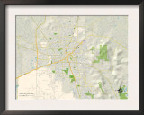 Political Map of Huntsville, AL Prints