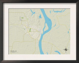 Political Map of Helena, AR Posters