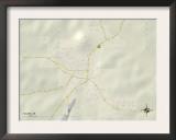 Political Map of Salem, AR Prints