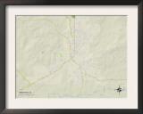 Political Map of Brewton, AL Art