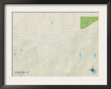 Political Map of Shannon Hills, AR Print