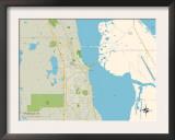 Political Map of Titusville, FL Art