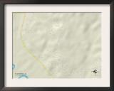 Political Map of Blue Ridge, AL Prints