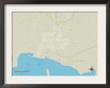 Political Map of Bayou La Batre, AL Poster