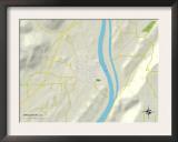 Political Map of Bridgeport, AL Posters