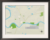 Political Map of Soldotna, AK Art