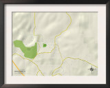 Political Map of Brookside, AL Poster