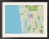 Political Map of Naples, FL Prints