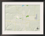 Political Map of Siloam Springs, AR Posters
