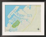 Political Map of Apollo Beach, FL Art