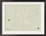Political Map of Sheridan, AR Prints