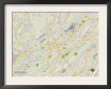 Political Map of Birmingham, AL Prints