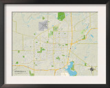 Political Map of Springfield, IL Prints