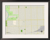 Political Map of Berwyn, IL Art