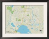 Political Map of Deltona, FL Posters
