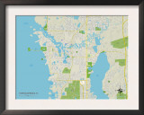 Political Map of Tarpon Springs, FL Posters