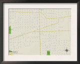 Political Map of Bellwood, IL Poster