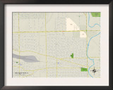 Political Map of Melrose Park, IL Art