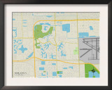 Political Map of Miami Lakes, FL Poster