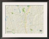 Political Map of Torrington, CT Prints