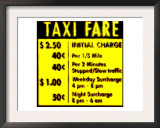 Taxi Fare, New York Art by  Tosh
