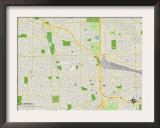 Political Map of Elmhurst, IL Prints