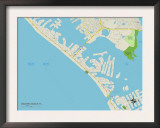 Political Map of Madeira Beach, FL Posters
