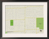 Political Map of Harwood Heights, IL Art