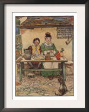 Illustration From Little Jack Sprat Of Couple Eating Prints by Frank Adams