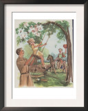 Swinging Is Fun Print by Mildred Lyon Hetherington