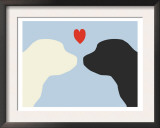 Blue Puppy Love Prints by  Avalisa