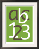 Green ABC and 123 Prints by  Avalisa