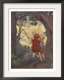 Illustration From Hansel And Gretel Of Children Seeing House Prints by Frank Adams