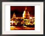 St Pauls Cathedral Night, London Posters by  Tosh