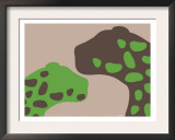 Green Jaguars Print by  Avalisa