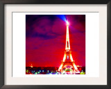 Eiffel Tower Night, Paris Art by  Tosh