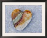 Heart-Shaped Pebble, Scotland, UK Prints by Niall Benvie