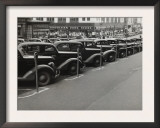 Black Cars and Meters, Omaha, Nebraska, c.1938 Print by John Vachon